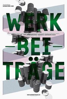 > Werkbeiträge 2008/1 #c2f #swiss #poster #typography