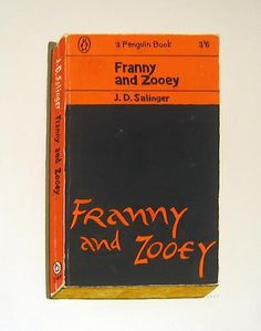 RICHARD BAKER - Franny and Zooey #baker #richard #book #cover #painting #typography