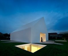 Minimalist house in Portugal by Manuel Aires Mateus #white #home #black #architecture #light