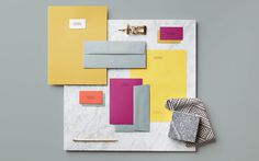 Kathryn Chaplow Branding design fashion bags mindsparkle mag designblog color colorful business card logo logotype style marble white yellow