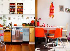 orange decor accents #interior #design #decor #deco #decoration