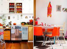orange decor accents