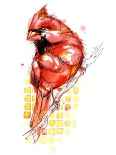 Watercolor birds by Abby Diamond #watercolor #birds #abby diamond