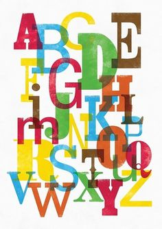 we love typography. a place to bookmark and savour quality type-related images and quotes #type #alphabet #poster #letterpress #colour