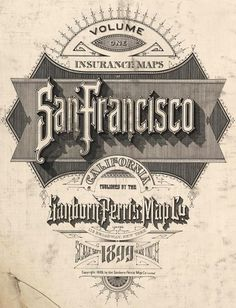 David Rumsey Historical Map Collection | Pre-Earthquake San Francisco 1905 Sanborn Insurance Atlas #francisco #cartography #san #map