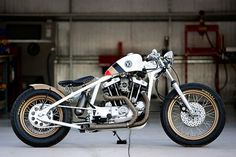 Harley Ironhead custom #motorbike #cycles #dp #custom #ironhead #bobber