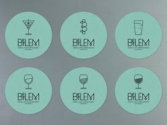 Art of the Menu: Betlem #coasters #design #graphic #hospitality #logo #typography