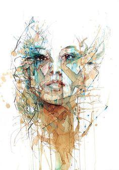 Fragment Postcard Pack on the Behance Network #waterpaint #illustration #portrait #carne #vodka #griffith