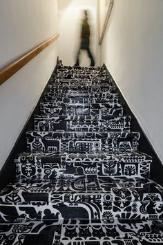 lindo.cl #interior #drawing #pattern #stairs