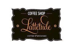 Lattetude coffee shop | ROSS SOKOLOVSKI #coffee #logo #typography