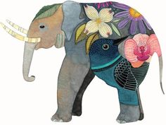 coqueterías - (via laboomeria) #illustration #elephant
