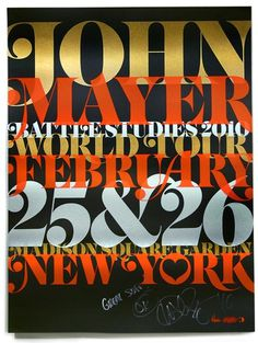 John Mayer Battle Studies 2010 #music #silkscreen #poster #typography