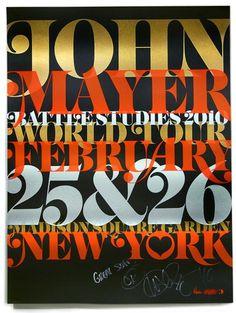 John Mayer Battle Studies 2010 #music #silkscreen #poster #typography