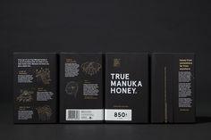 The True Honey Co. by Marx Design #dark #layout #gold #honey