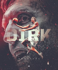 NBA Art | Birthday Graphic for Dirk Nowitzki