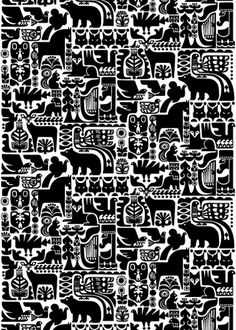 Sanna Annukka for Marimekko | Shiro to Kuro #pattern