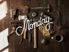 Monday by Sarah Dayan #typography #monday #work