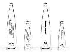 Fonteforte / Lanjaron (Packaging, Identity) by Lo Siento Studio, Barcelona #white #bottle #black #and #package #typography