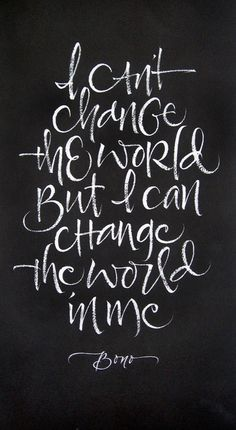 Typeverything.comChange The World by Julie Wildman. #hand #writing
