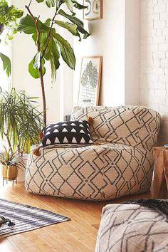 Bobo Patterned Lounge Chair, Urban Outfitters