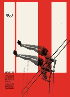 FOTOLITO — + Color Relativity 2 #poster #swiss #white #red #collage #black #olympics #pole vault