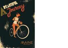 Christopher Nielsen Illustration #girl #bicycle #design #graphic #illustration #paper #typography