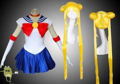 Usagi Tsukino Sailor Moon Cosplay Costume + Wig #sailor #cosplay #outfits #moon
