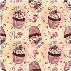 holiday patterns on Behance #illustration #cupcake
