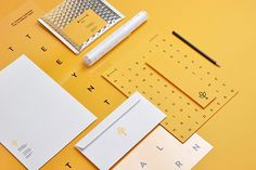 Branch Creative by Noeeko #logotype #branding #business card #print design #yellow