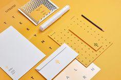 Branch Creative by Noeeko #logotype #branding #business card #print design #yellow