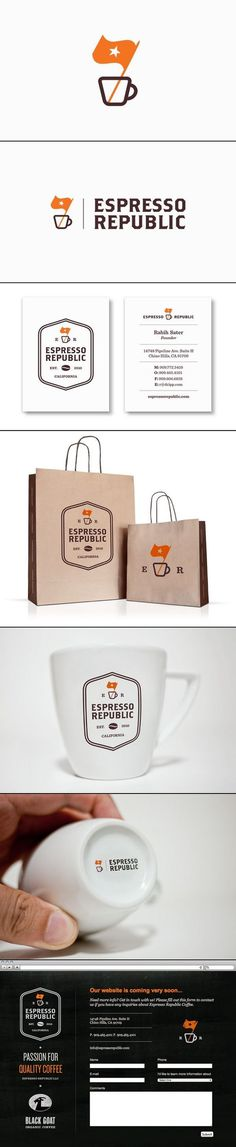 Espresso Republic | graphic design, branding and packaging #branding #packaging #design #graphic #identity #logo
