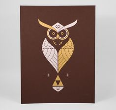 buyolympia.com: Ross Bruggink - Kaepora #owl #bruggink #tribute #triforce #kaepora #ross #zelda