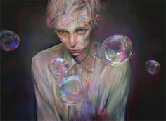 http://xhxix.tumblr.com/ #bubbles #illustration #painting