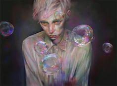 http://xhxix.tumblr.com/ #bubbles #illustration #painting