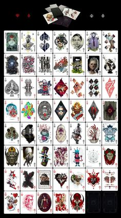 New artpack from Goverdose art collective - DECK. Playing cards, micro art album. Zoom: https://www.behance.net/gallery/16487019/Goverdose-2 #deck #of #design #goverdose #playing #illustration #art #cards