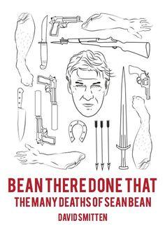 David Smitten #rifle #bw #white #sean #seanbean #sword #black #illustration #bean #and #knife #death