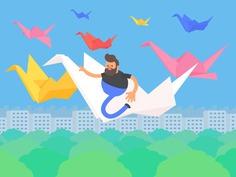 Tokyo Gifathon Day 21 - Origami.