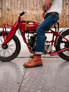 tumblr_lywotlFQib1r3d75vo1_500.jpg (477×640) #red #indian #bike #motorcycle #jeans