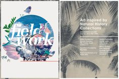 Field Work 2014 - meganprycedesigns.com #art show #exhibition #poster #typography #logo #collage #invitation #program #art museum #gallery #
