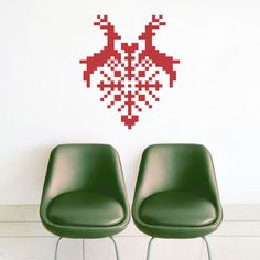 Puxxle · Red Heart #holidays #heart #puxxle #decor #puzzle #pixel #scandinavia #wall #art #love #decoration #8bit