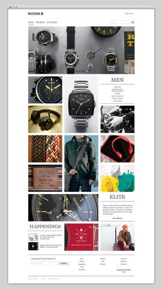 Nixon #website #layout #design #web