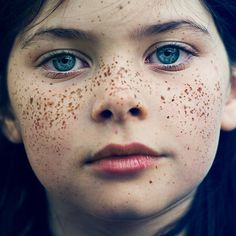 Portrait Photography by Benoit Paille #young #girl #eyes #childhood #photography #portrait #freckles
