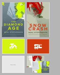 Neal Stephenson's The Diamond Age and Snow Crash #wilson #book #cover #genr #david #cyberpunk