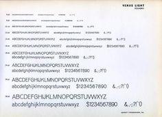 Venus type specimen #type #specimen #typography