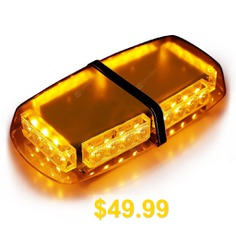 24 #LED #Emergency #Vehicle #Light #Bar #Strobe #light #Hazard #Police #Warning #Flashlight #Enforcement #Lights