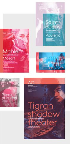 Auditorium Orchestre National de Lyon - Poster design on Behance #overlay #transparency #multiply