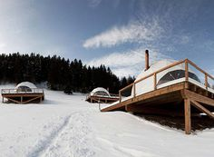 White Pod Eco Luxury Hotel in Swiss Alps #hotel #resort #luxury #eco