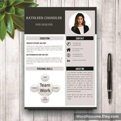 Download this file for a professionally designed and easy to customize 2 PAGE resume and matching cover letter plus references (you receive