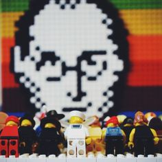 Steve Jobs: pixelized, legolized and worshipped. #legoapple #apple #lego