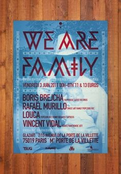 We are Family : SmallNeue #smallneue #print #we #familly #are #poster
